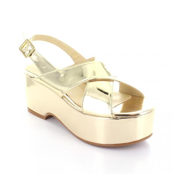 Sandalia Para Mujer Rafael Ferrigno 4164-045396 Color Oro