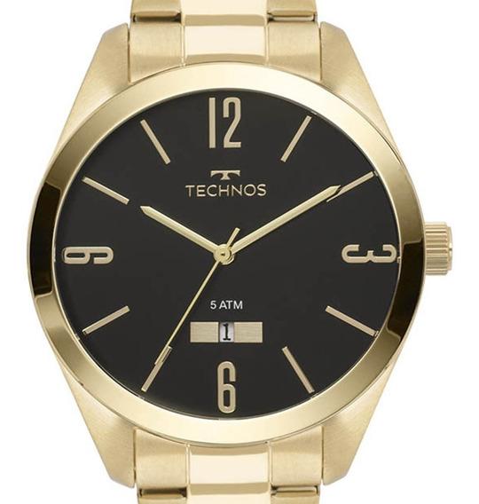 Relógio Technos Dourado Masculino Classic Steel 2115mnw/4p C/ Nf-e