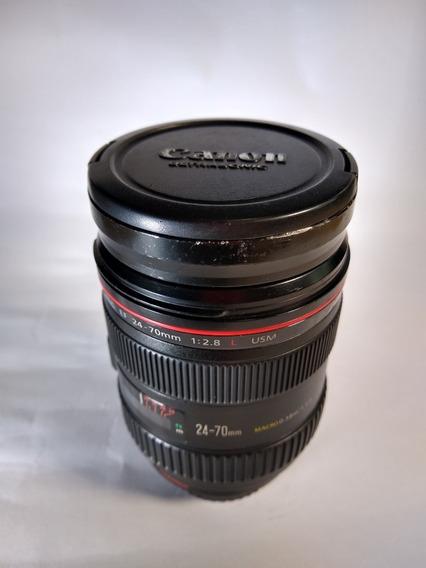 Lente Canon 24-70mm F/2.8 Serie L- I Usm Lens Com Parasol