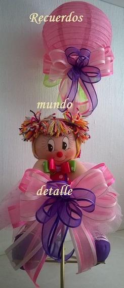 Centro De Mesa Tierno Payasita Fiesta Infantil Bolo Piñata