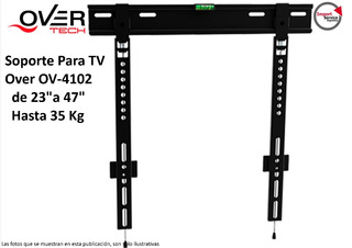 Soporte Para Tv Over Ov-4102 De 23 A 47 Hasta 35 Kg