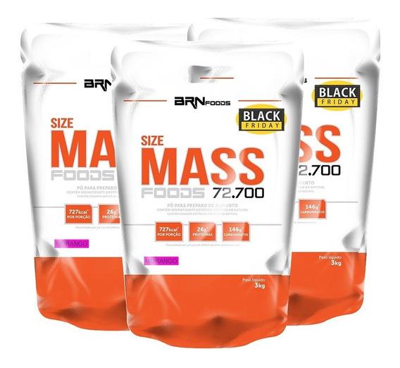 Combo 3x Hipercalórico Size Mass - Brn Foods Full
