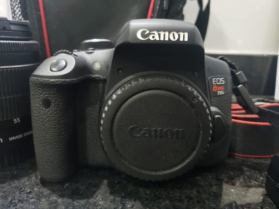 Kit Canon T6i + Lente 18-55mm, 55-250mm + Acessórios