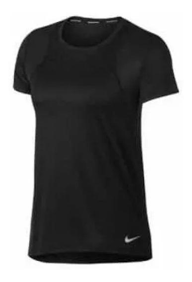 Playera Nike Breathe Negra Dama 1488173 Original Ven.nom