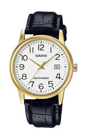 Relógio Masculino Casio Couro Calendário Mtp-v002gl-7b2udf