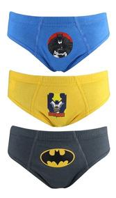 Kit C/3 Cueca Lupo Infantil Slip Batman 163 089 0917 | Katy