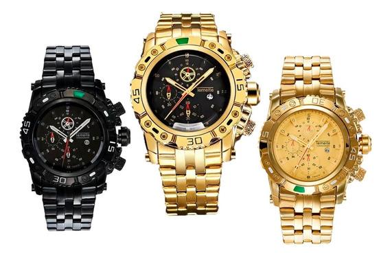 Relógio Original Quartz Temeite Masculino À Prova D