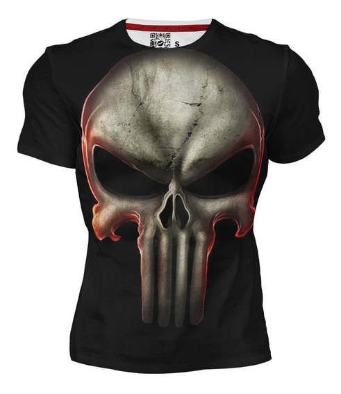 Playera Dry Fit Deportiva Full Print Calavera Skull Punisher