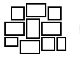 Kit 10 Molduras Em Papel Cartão Para Quadros Decorativos