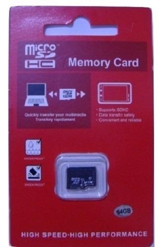 Imagen 1 de 3 de Tarjeta Memoria Micro Sd Clase 10 64 Gb Fotos Vídeos Calidad