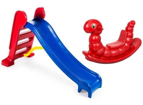 Escorregador Infantil 3 Degraus - Playground - Menor Frete