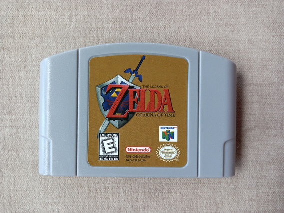 Cartucho Fita N64 Zelda Ocarina Of Time Nintendo 64