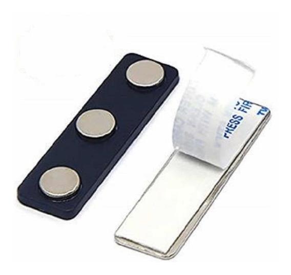Paquete Portagafete Magnético Paquete 250 Piezas