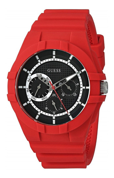 Reloj Guess Unisex Modelo U0942l4 Correa Silicona Nuevo