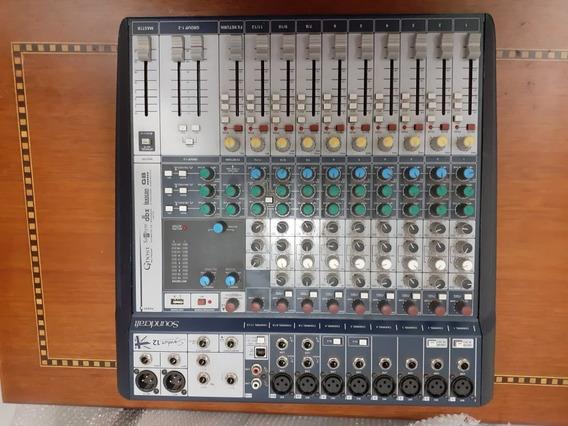 Mesa De Som Soundcraft 8 Canais