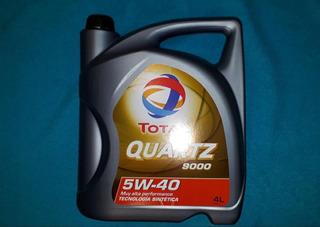 Aceite Total Quartz 9000 Sintetico 5w40 Por 5 Litros