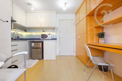 Apartamento Com 1 Dormitório, 30 M² - Venda Por R$ 420.000,00 Ou Aluguel Por R$ 2.700,00 - Cerqueira César - São Paulo/sp - Ap22442
