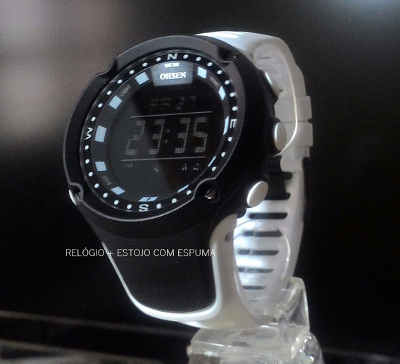 Relógio Pulso Digital Masculino Feminino Ohsen Ad1510 Branco