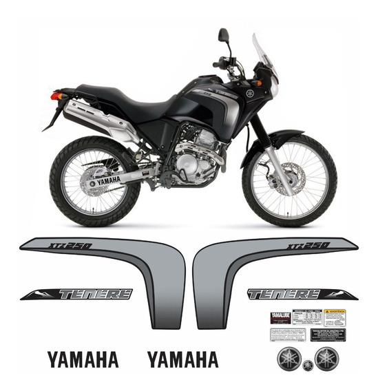 Kit Completo Adesivo Yamaha Tenere 250 2011 Preta Tnr002 Fgc