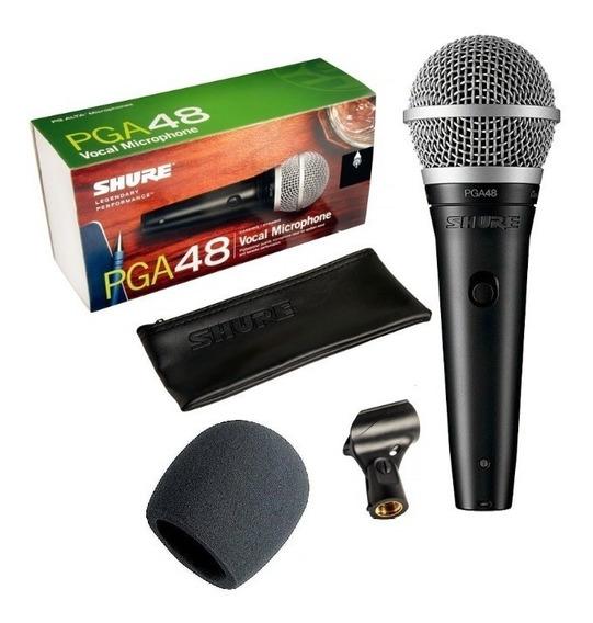Microfone Shure Pga48 De Fio 2 Anos Garantia Pga 48 Lc