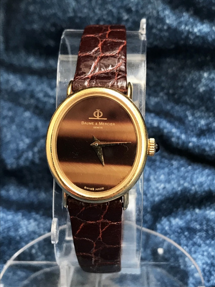Relógio Ouro 18k Maciço Nivel Omega Baume Safira, Tiger Eyes
