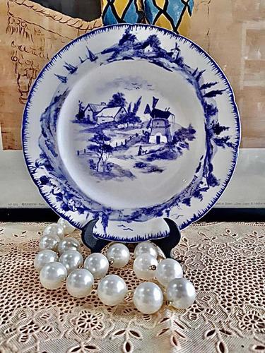 Antiguo Plato De Loza Royal Delf Holland