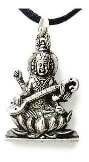 Colar Sarasvati Deuses Hindu Pingente Deusa Sabedoria