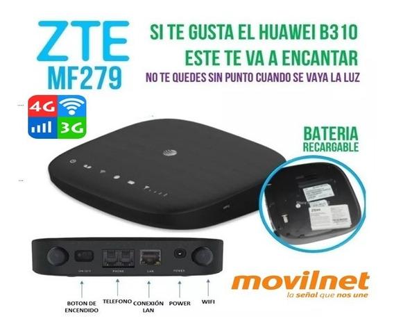 Modem Router Wifi 3g H+ Zte Mf279 Con Internet Ilimitado