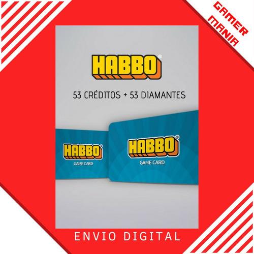 Habbo 53 Créditos + 53 Diamantes - Habbo Club Brasil