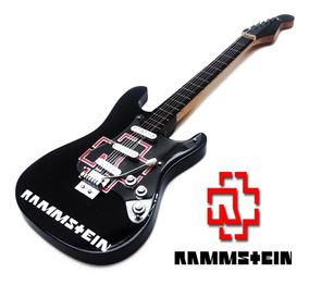 Guitarra Rock Enfeite Miniatura 25cm Madeira - Rammstein