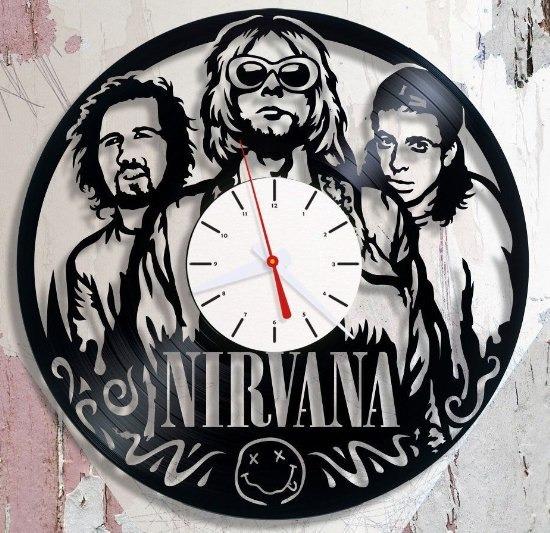 Relogio Em Disco De Vinil Nirvana