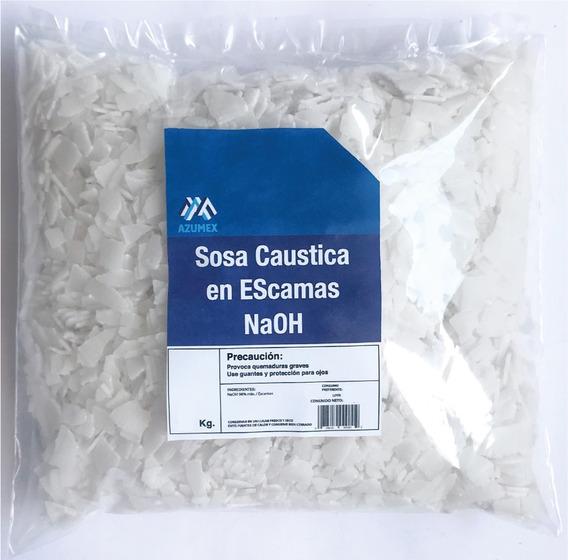 10 Kg Sosa Caustica En Escamas - Hidroxido De Sodio Al 99%