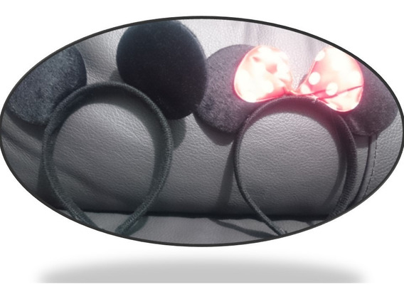 10 Diadema Minnie Mouse Orejas Raton Negro Mickey Economica