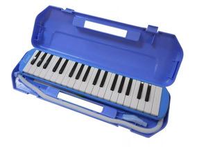 Flauta Melodica Benson 37 Teclas Azul Estuche Rígido Promo