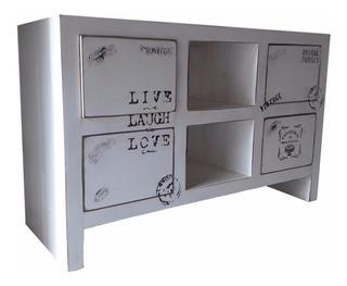 Rack Mesa Tv Lcd - Box - Con Cajones - 120 Cm