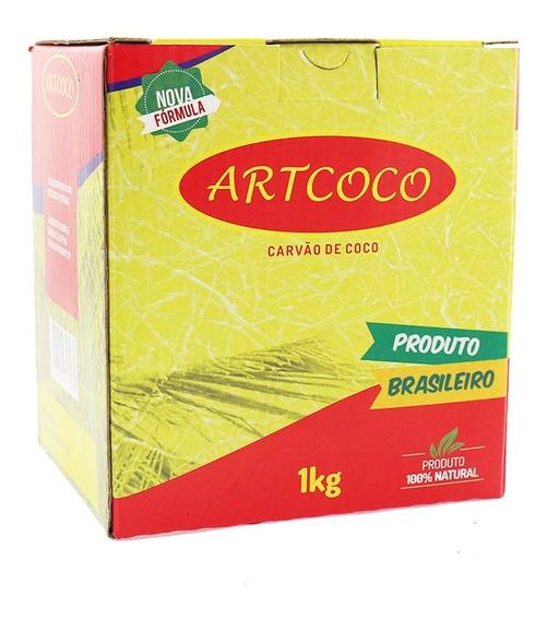 Carvão Art Coco Arguile Narguile 1kg