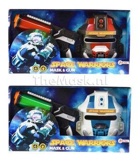 Pistola Y Máscara Con Luz Y Sonido Space Warrior Jem