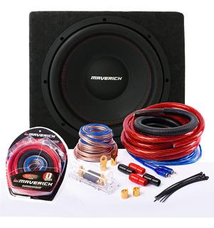 Subwoofer 12 Db + Cajon + Kit De Cables Maverick