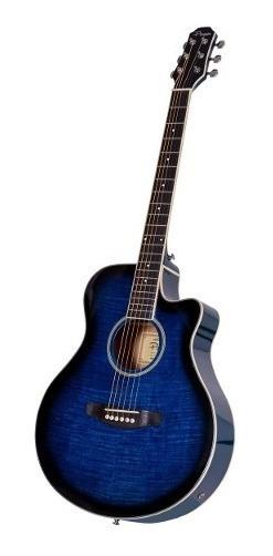 Guitarra Electroacustica Parquer Apx Media Caja Azul Cuotas