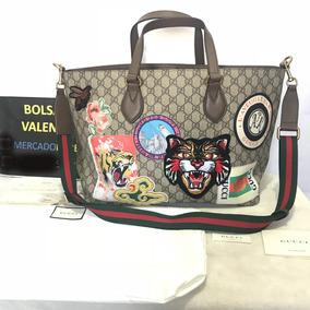 Bolsa Gucci Tigre Courrier Soft Gg Supreme Tote Bag Factura
