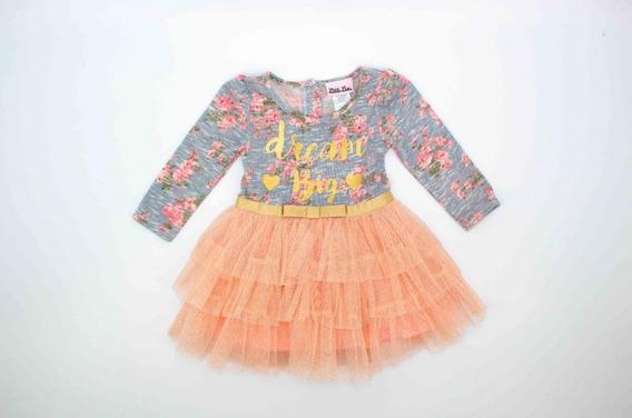 Bonito Vestido Tutú Niña Floreado En Oferta 02912
