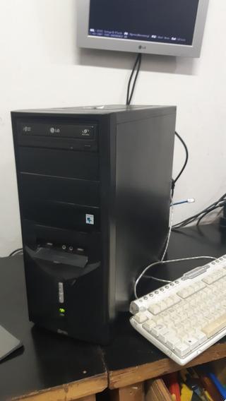 Pc Computador Cpu Intel Core 2 Duo + Hd 500gb + 4 Gb + Grav