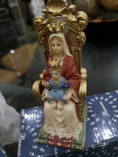 Virgen De Coromoto Barroco En Poliresina 10 Cm Promoción 15v