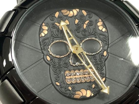 Relógio Biden 0086 Caveira 3d Com Dentes Brilhantes