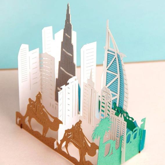 Creative 3d City Building Cartão Cartão De Aniversário Cartã