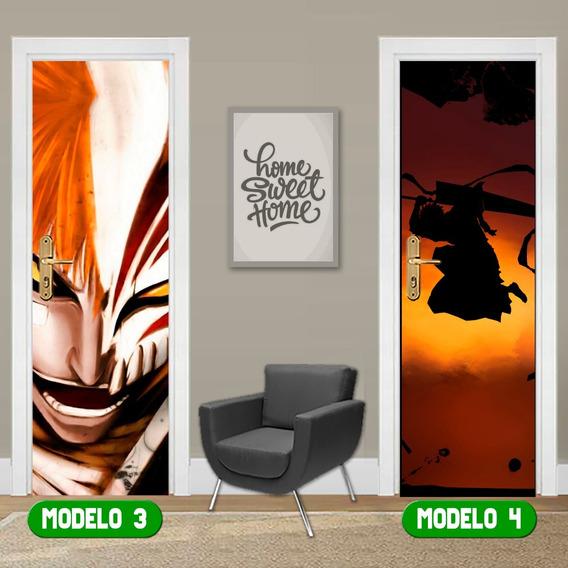 Adesivo Porta Bleach Anime Mangá Quarto Gaming Room Oferta