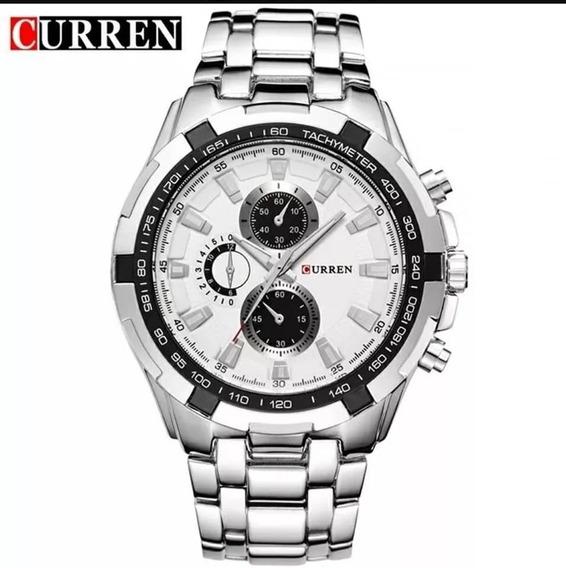 Relógio Curren Masculino Original Promoção Luxo Inox