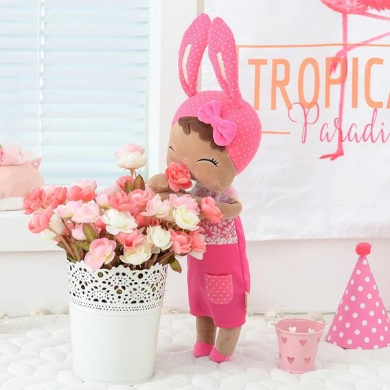 Boneca Metoo Angela Negra Pelúcia Original Decoração Bebê