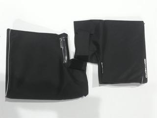 Cubre Puño Soy Moto Cordura Negra Grande Con Accesorios