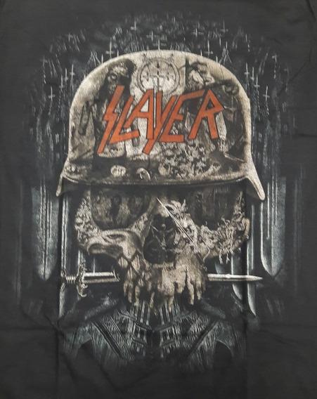 Camiseta Slayer Skull Albuns Brutal Bssa01